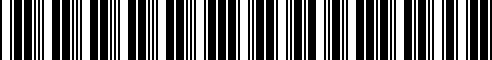 Barcode for 000071120HA