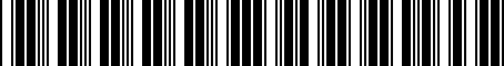 Barcode for 000071215A